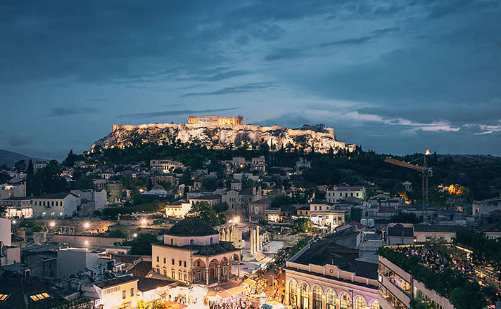 athens greece hill