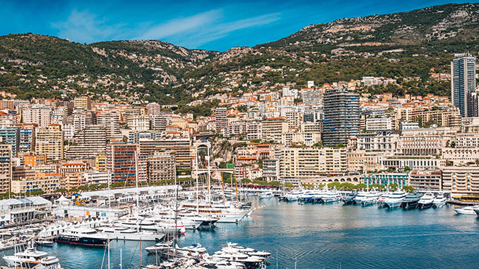 port in monaco with luxury yachts