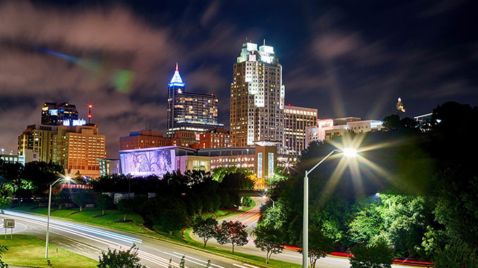 raleigh nc night view