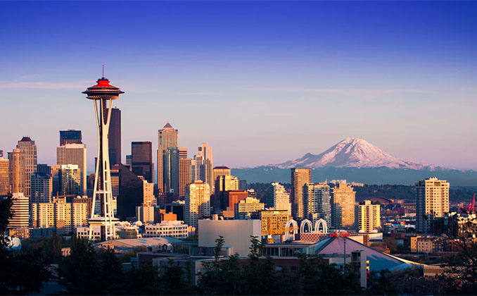 seattle washington postcard